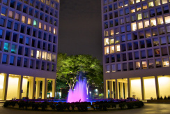 Society Hill Tower Night View
