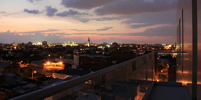American Lofts nightime view